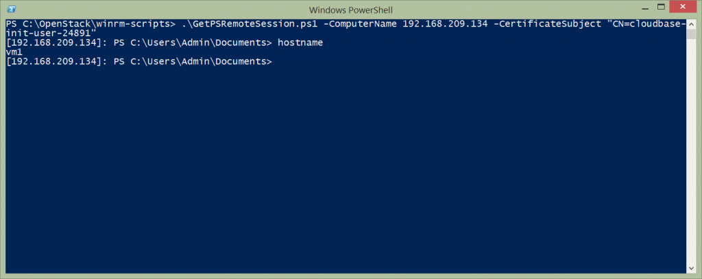 PowerShell certificate authentication