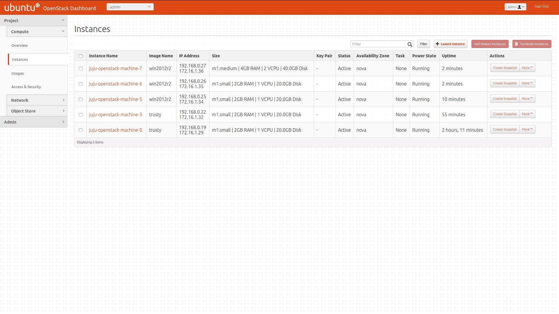 SharePoint Juju OpenStak instances